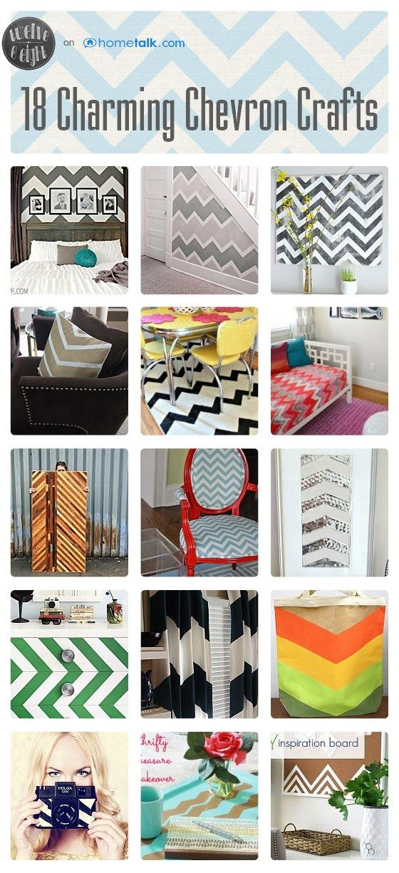 18 Charming Chevron Crafts | curated by 'twelveOeight' blog!