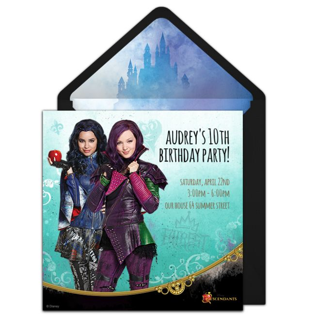 Check out this FREE Descendants online that you can send online via email. It's a great way to celebrate the birthday girl!