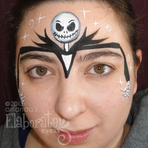 Jack Skellington face paint Halloween mask half face