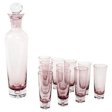 Check out this item at One Kings Lane! Midcentury Decanter & Glasses