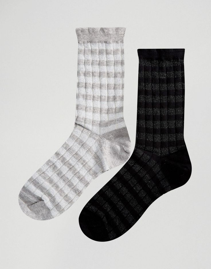 Ichi Two Pack Socks - Silver
