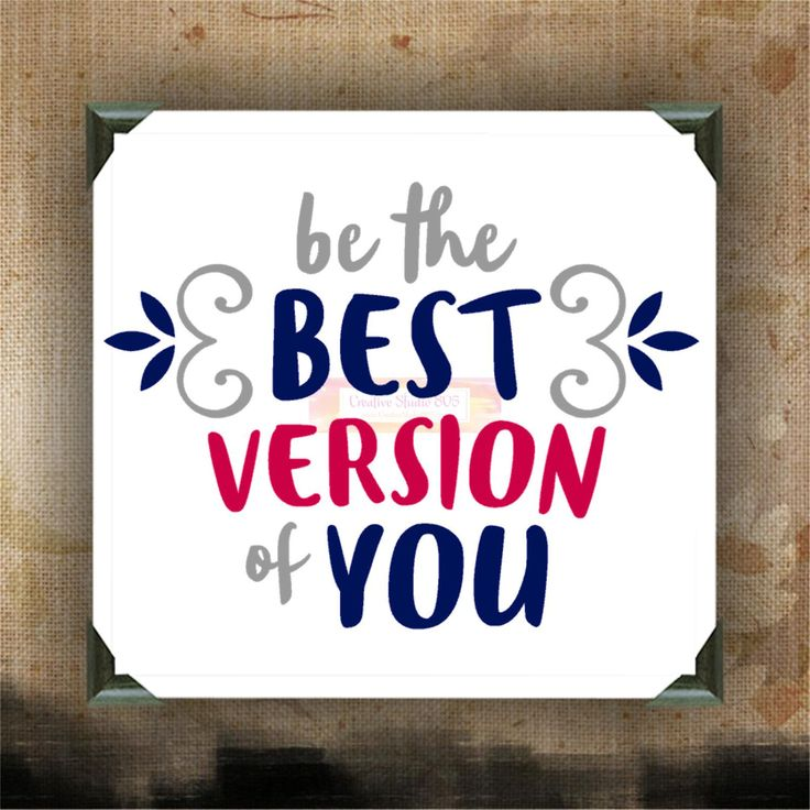 Be the BEST VERSION of YOU - Painted and Decorated Canvases - wall decor - wall hanging - custom canvas - inspirational quotes on canvas