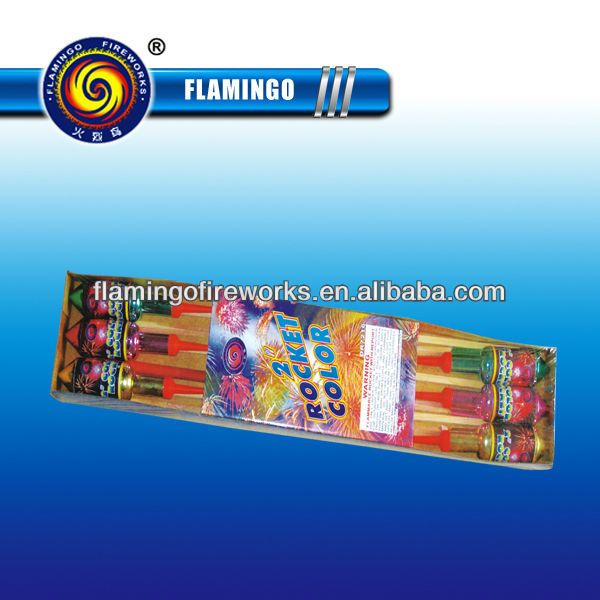 """2"""" color rocket fireworks, high quality for party and festival."""