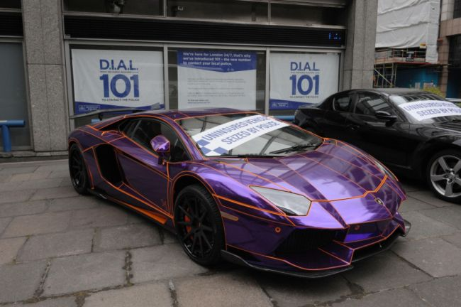 It might glow in the dark and cost £350,000 but that's not going to save this car from being scrapped unless the owner coughs up for the insurance.