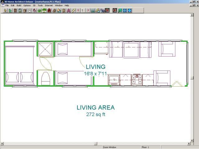 Floor Plan For Bus Conversion, Or Skoolie