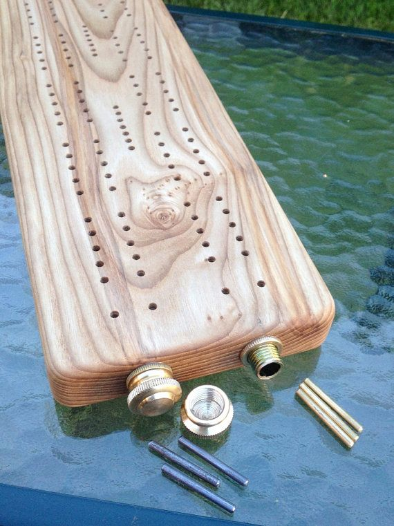 Ash Cribbage Board by SlingshotsByRiley on Etsy