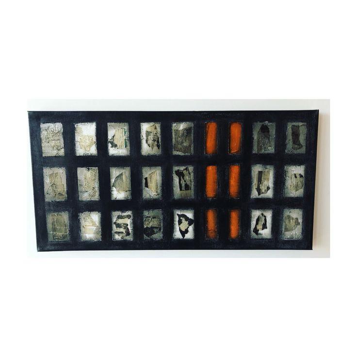 D E C O D E  Black/ Orange/ Clear Resin #art #texture #painting #decor #texture #modern #geometric