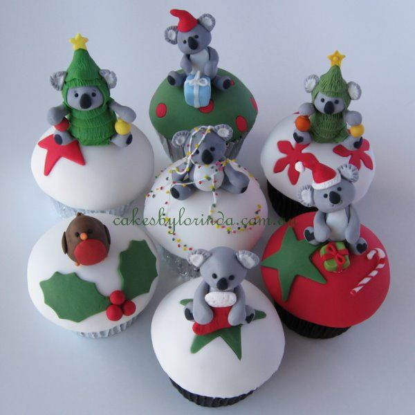 Australian Christmas Cupcakes - Pinned on behalf of Pink Pad, the women's health mobile app with the built-in community #christmas #australia