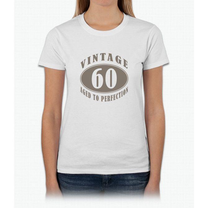 60th Vintage Brown Womens T-Shirt