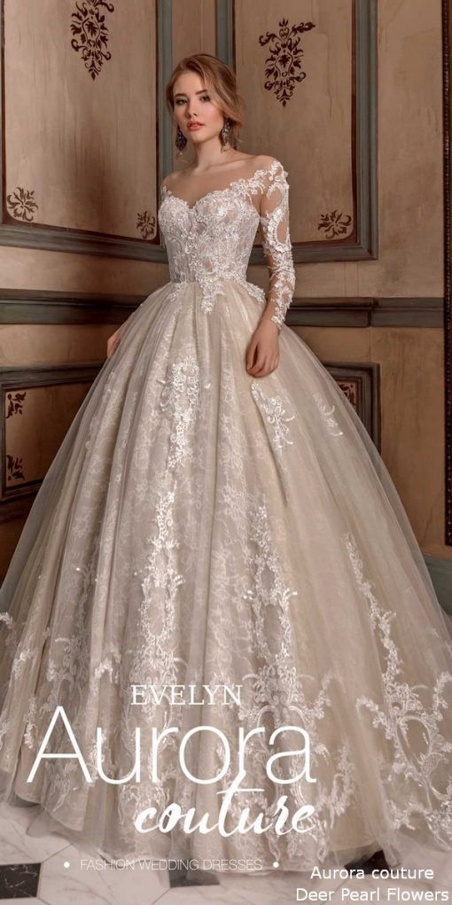 Long Sleeve Ball Gown Wedding Dress EVELYN