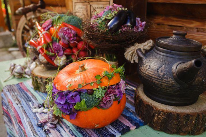 Букет из овощей: флористический подход к баклажанам и перчикам