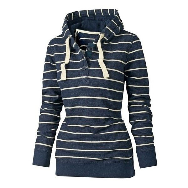 Haven Stripe Hoody found on Polyvore featuring polyvore, fashion, clothing, tops, hoodies, jackets, outerwear, hooded pullover, stripe top and striped hoodie