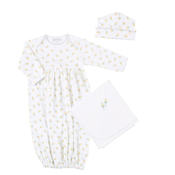 Magnolia Baby Sweet as Can Bee Gown Layette Set - Print