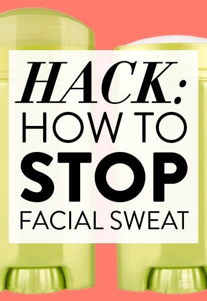 How to stop face sweat