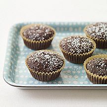 Serve these Mini Brownie Cupcakes  as pictured or top with light whipped topping and sprinkles or fresh fruit. #recipe #WWLoves