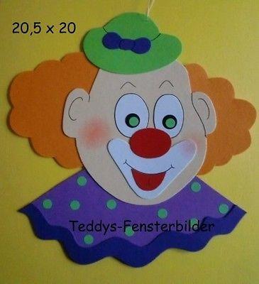 327 best karneval fasching clown zirkus images on pinterest clown handwerk fasching und zirkus - Fensterbilder karneval ...