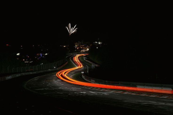 Nürburgring Nordschleife racetrack at night  http://earth66.com/exposure/nurburgring-nordschleife-racetrack-night/