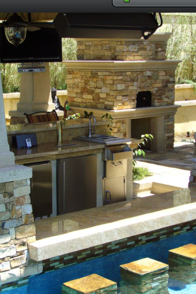 Outdoor living : those underwater bar stools ! | Dream ... on My Backyard Living id=24150