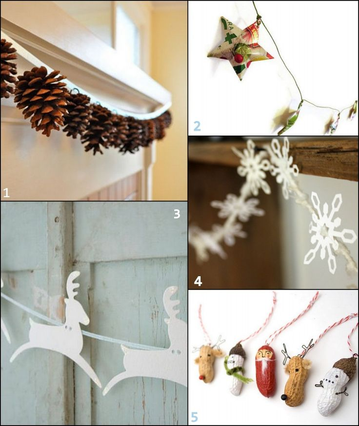 garland Ideas. link takes you to a site called Handmadeology which has links to each sperate garland.