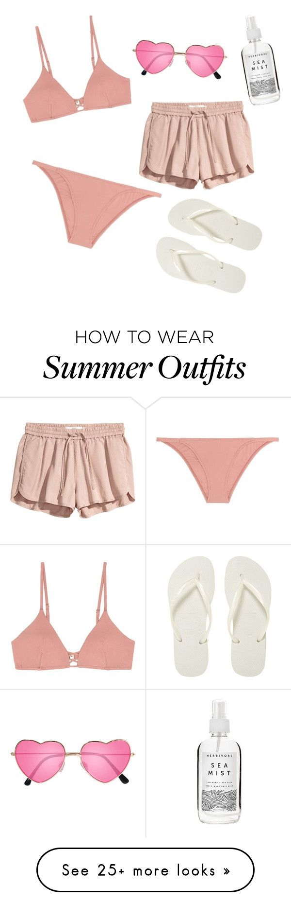 """""""Summer/17"""" by queenofhearts-k on Polyvore featuring Melissa Odabash, Havaianas, H&M and Herbivore"""