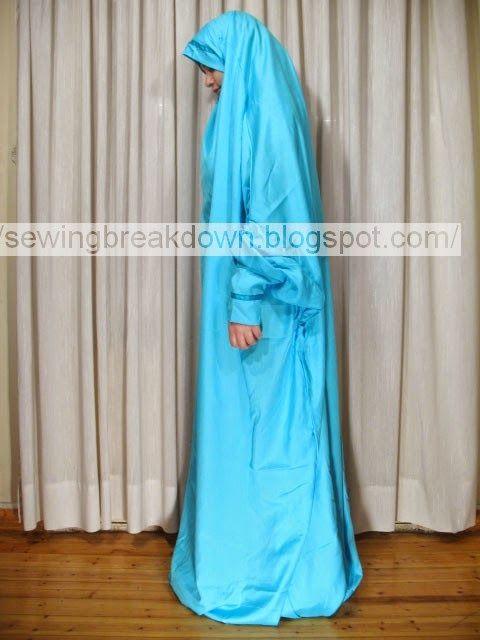 خطوات خياطة وتفصيل الحجاب الشرعي للبنات - خياطة و تفصيل
