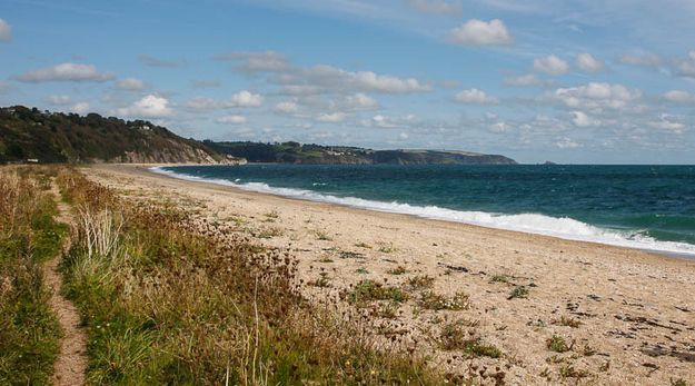 Slapton Sands, Devon Bigged up since it was name-checked in the Domesday book (as Sladone), Slapton Sands might not be sandy, but it's a quiet oasis in the middle of Devon, a two mile bar so big and empty they practised the D-Day landings here.
