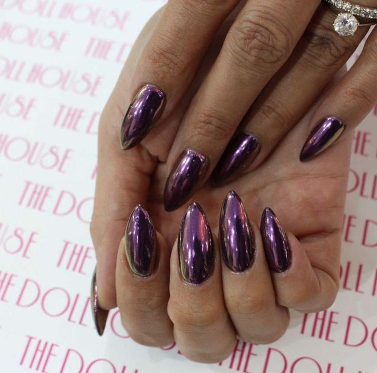 Purple nail art designs acrylic nail designs - 17 Best Ideas About Chrome Nails On Pinterest Mirror
