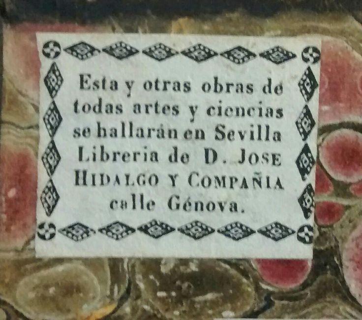 Impreso por Hidalgo y Compañía, Sevilla, 1830.