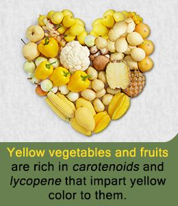 List of Yellow Vegetables and Fruits
