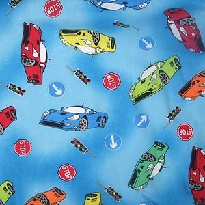 Fat Quarter Blue Racing Car Fabric 100 Cotton 18 X 22