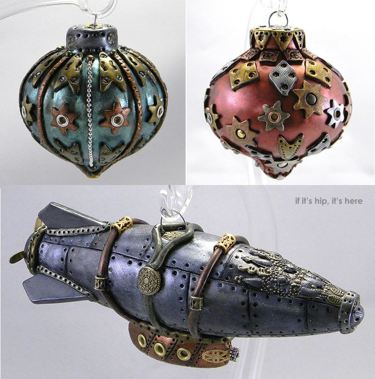 Steampunk Christmas Ornaments Are One Of A Kind Handmade Art For Your Tree. - if it's hip, it's here