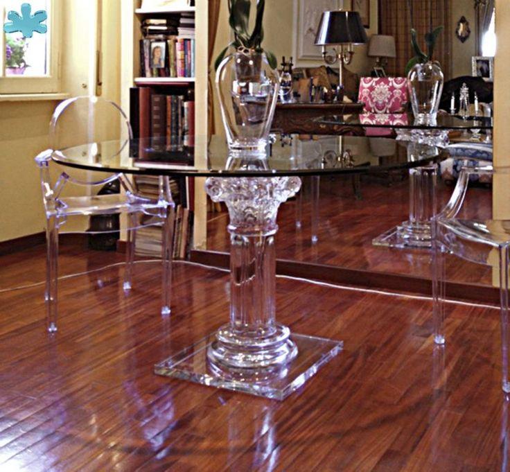 38 best images about Acrylic dining tables / Tavoli da pranzo plexiglass on P...