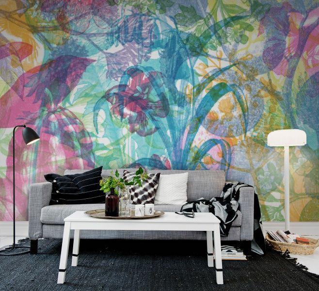 A favorite wallpaper from Rebel Walls, Jelly Belly Plants! #rebelwalls #wallpaper #wallmurals