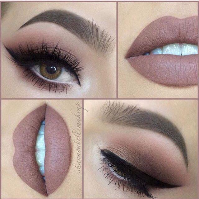 Rose gold eye x Nude matte lip