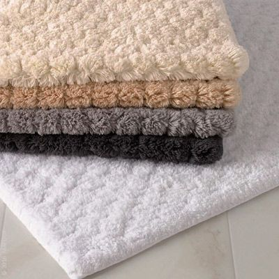 Matouku0027s Sculpted Long Pile Bath Rugs, Lotus. Comb All Cotton And Regular