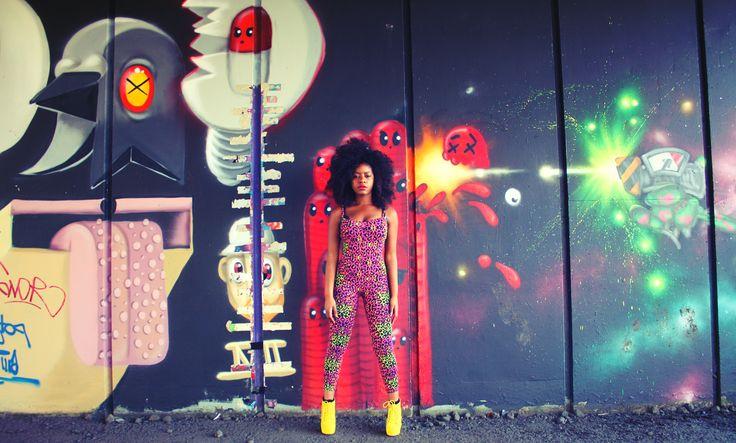 Graffiti colourful shoot  shot by cassandra stephens