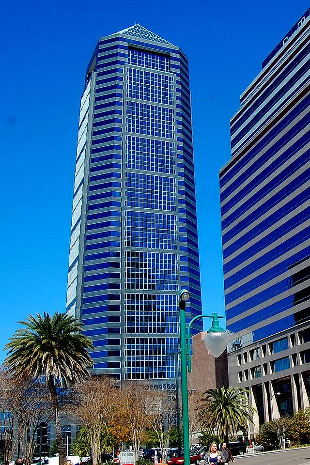 Downtown Jacksonville Fl >> Bank of America Tower, Jacksonville, Florida | Postmodern Architecture | Pinterest | Florida ...
