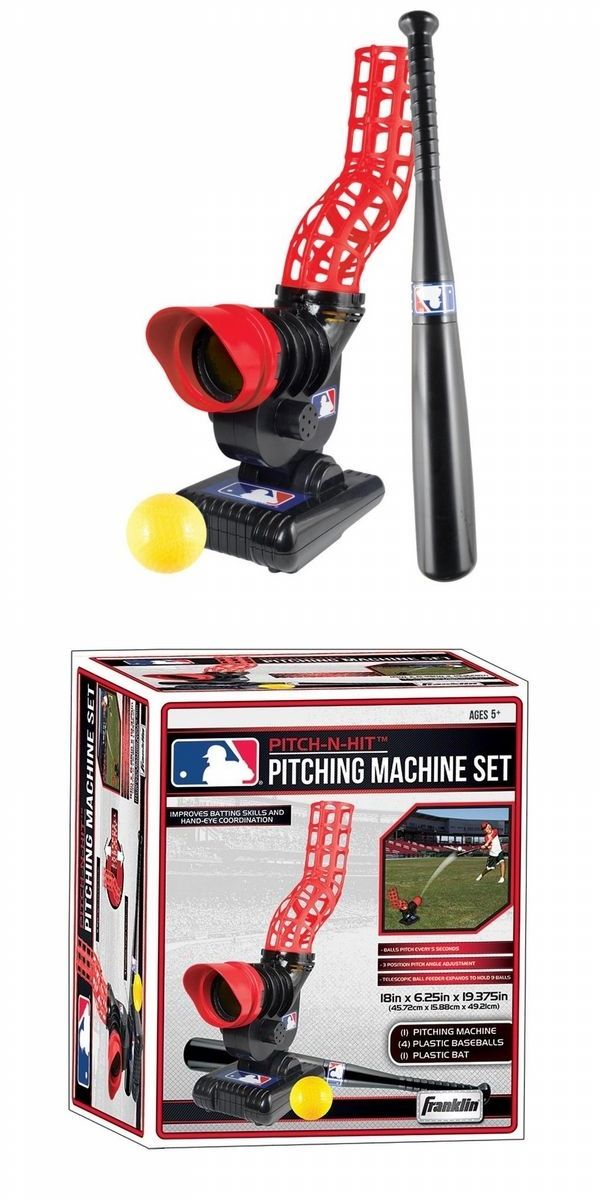 Pitching Machines 58061: Franklin Sports Mlb Pitch N Hit - Baseball Softball Pitching Machine -> BUY IT NOW ONLY: $31.9 on eBay!