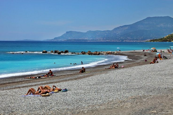 Ventimiglia beach, Riviera dei Fiori, Italy