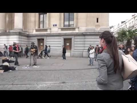A random lady with good voice Join the Reggae busker singing three little birds - reggae music - YouTube