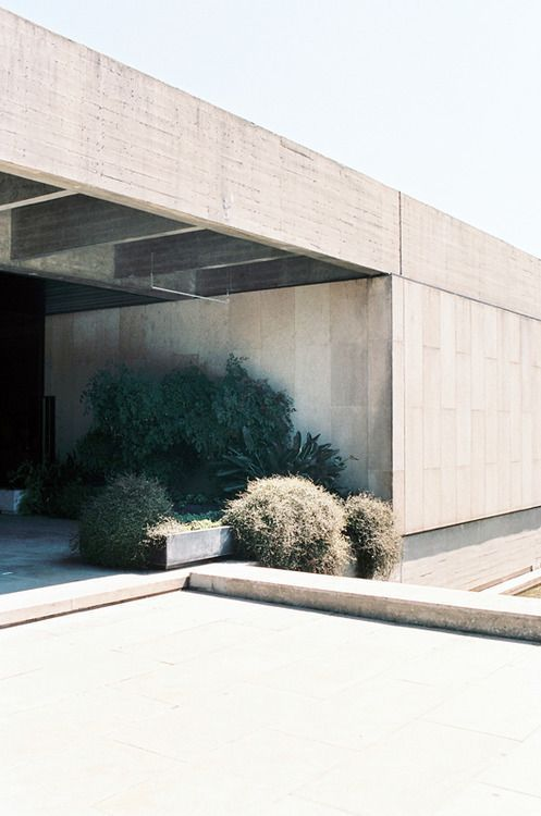 Modern architecture, cement walls