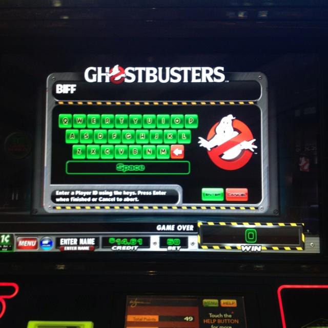 ghostbuster slot machine vegas
