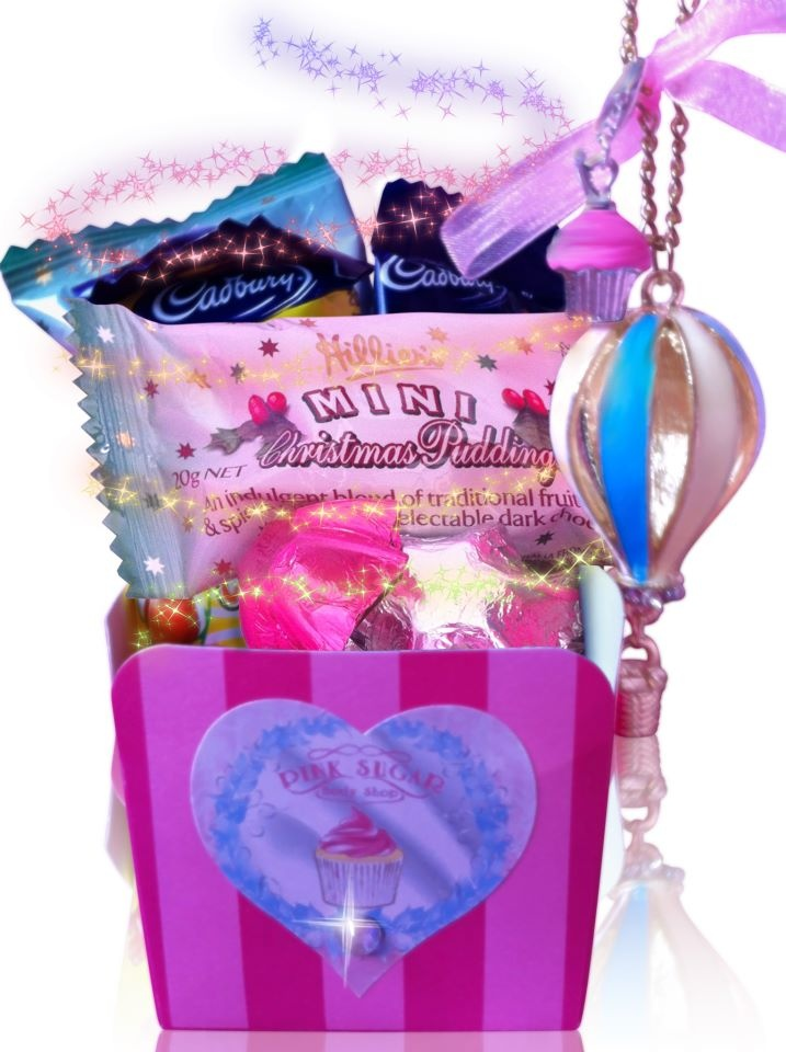 Our FREE Christmas gifts promotion has now commenced, so jump online at www.pinksugarbodyshop.com.au and purchase 1 x full size product, to receive a free necklace, cupcake charm & chocolate box ~ ABSOLUTELY FREE!!!!!