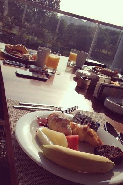 Good morning!  Günaydin!   #sheraton #bursa #sheratonbursa #hotel #goodmorning #breakfast #prusa #restaurant #fresh #fruit #terrace #view #gunaydin