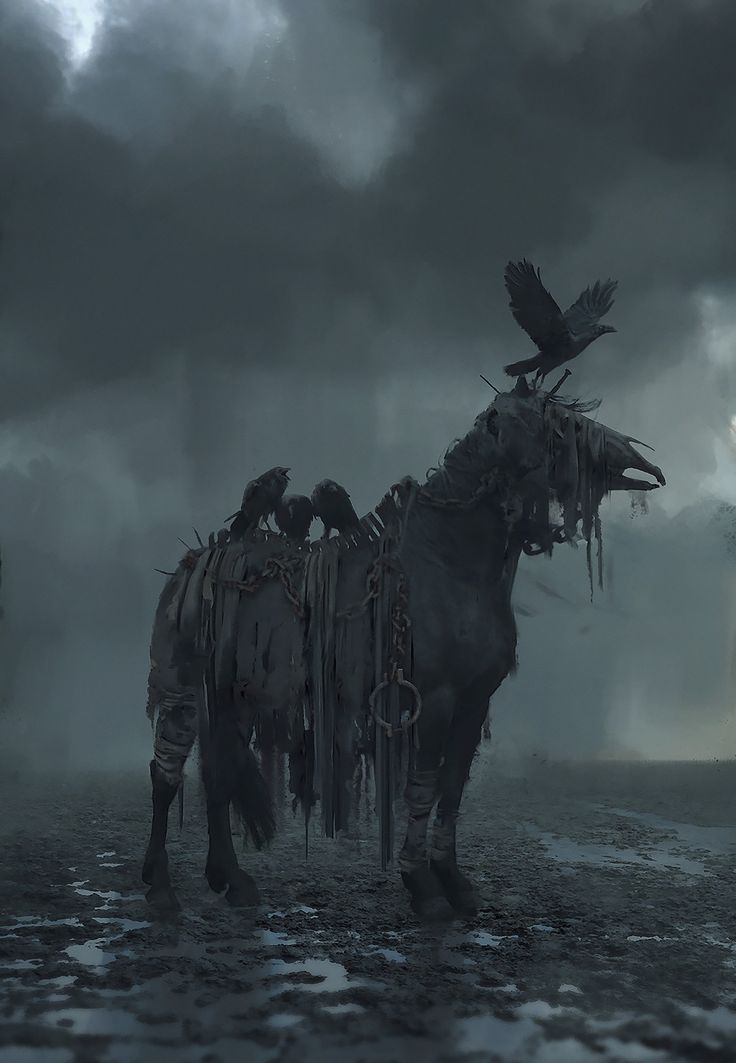 dead horse, Rostyslav Zagornov on ArtStation at https://www.artstation.com/artwork/XbrYY