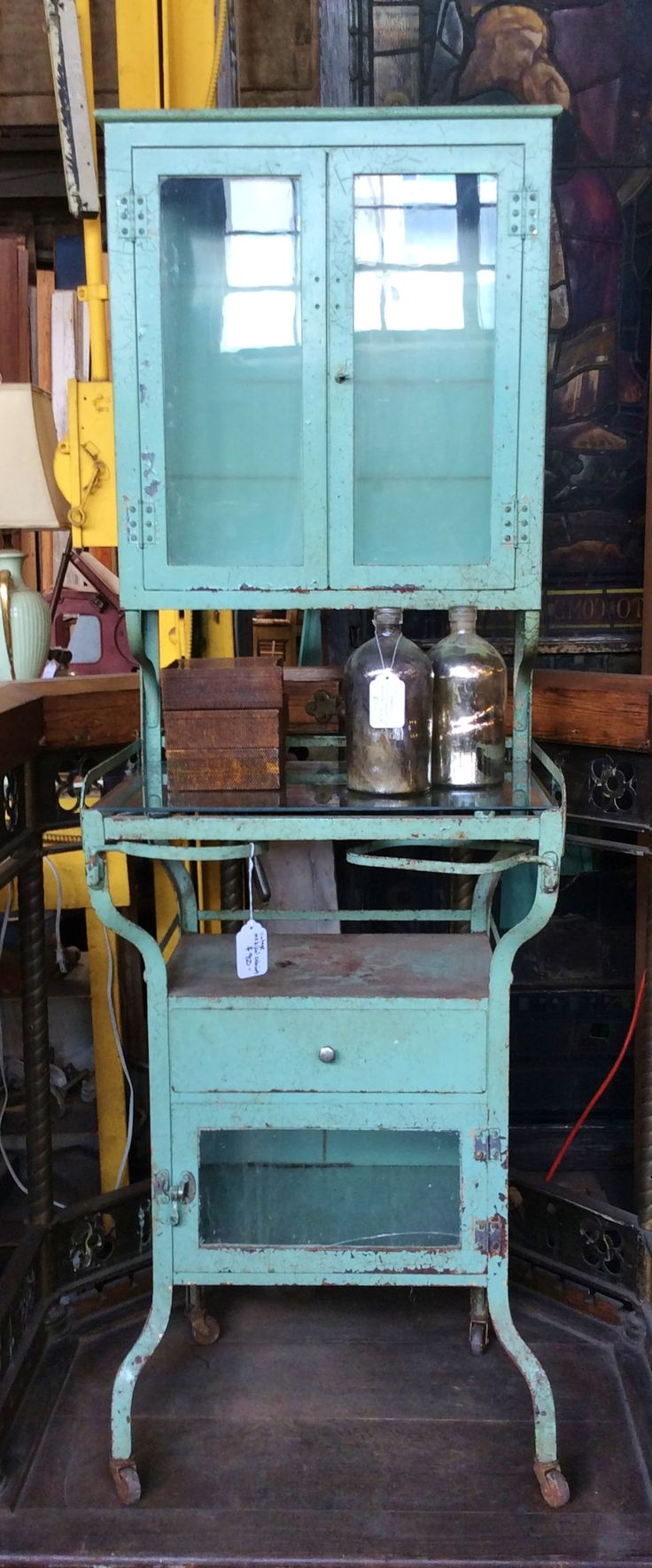 KAGADATO selection. The best in the world. Metal cabinets. **************************************Vintage Medical Cabinet