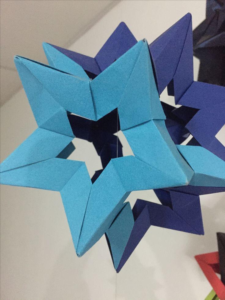 Kusudama star holes