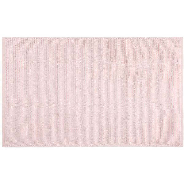 Hamam Galata Organic Bath Mat - Blush ($87) ❤ liked on Polyvore featuring home, bed & bath, bath, bath rugs, pink, hamam, pink bath mat and pink bathroom rugs