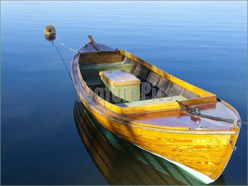 orange row boats   Watercraft: Boat In The Lake - Stock Picture I2559412 at FeaturePics