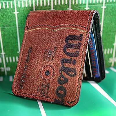 Football Anyone? Custom Bi Fold Wallet Built From Old Footballs-Vvego…